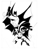 Animated BATMAN and ROBIN by POPSTATA