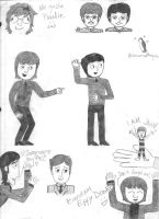 Beatles Doodle Dump by girlwitharubbersoul