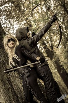 Black Canary and Green Arrow by PicturesOfJack