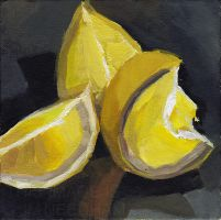 Lemon Wedges by JMNeedhamArt