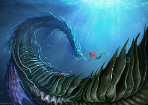 Leviathan and Ariel by Evolvana