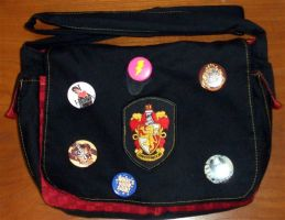 1st Ever Gryffindor Bookbag by Groovygirlsuzy17
