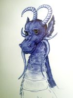 ballpoint dragon of classroom boredom by breakingreflections