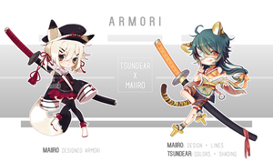 [ADOPT] ARMORI - 16-17 (COLLAB) (CLOSED) by tsundear