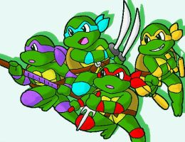 tmnt-turtle power-fullcolor by koju327