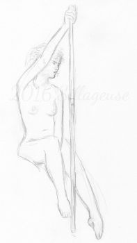 nude drawing class. pose 09 by Sillageuse