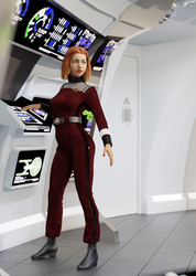 Wrath of Khan and later enlisted Jumpsuit by JamesJAB