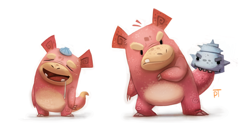 DAY 476.  Kanto 079 - 080 by Cryptid-Creations