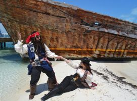 Jack Sparrow and Angelica Teach Cosplay by Nao-Dignity