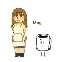 Mug is human by SkyMeowCute