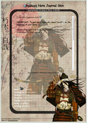 Byakuya Note Journal Skin by 16thSquadSanseki
