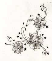 flowers tattoo flash by WillemXSM