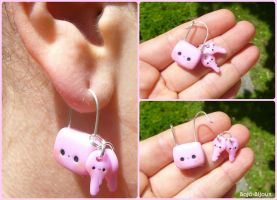 Kawaii Lock and Keys earring by Bojo-Bijoux
