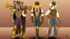 Steampunk Mice FRom Mars by FabFelipe