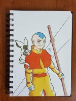 Day 164 Aang and momo by TomatoStyles
