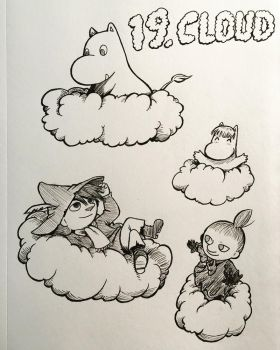 Inktober 2017: Cloud by InnuDoggy
