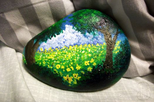 [ Painted Rocks ] Flowery Meadows by Dreamsverse