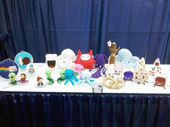 SDCC 2011 Art Show table 1 by brokensymphony