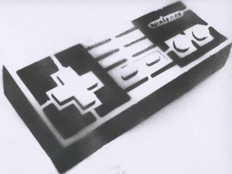 Nes Controler Stencil by scorch87