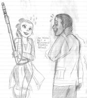 Finn and Rey - sketch by KatyTorres
