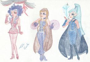 Icy, Darcy and Stormy by athenake