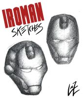 Ironman's mask sketches by Tremotino