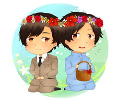 (AT) Flower crowns by YukiCarnation