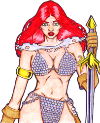 Red Sonja by TheLadyCrimson