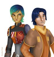 Ezra and Sabine by Dawnchaser