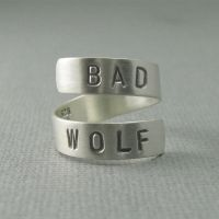 sterling silver Bad Wolf ring by tinkerSue