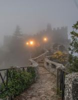 Foggy Castle Stock by little-spacey