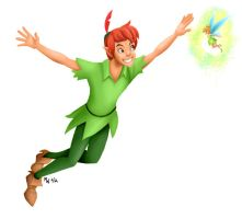 All Hearts - Peter Pan and Tinker Bell by LynxGriffin