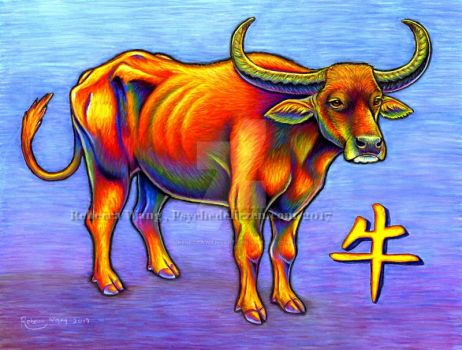 Chinese Zodiac - Year of the Ox by psychedeliczen
