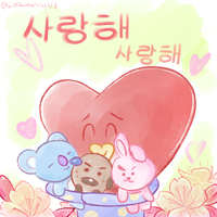 [BTS] BT21 - Tata and friends by gintamatrash13