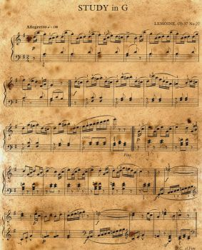 Vintage Music Sheet Stock by the-one-and-only