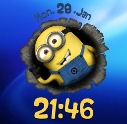 Search For Minion Clock for xwidget by Jimking
