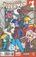 My Little Spider-Girls Front Cover Commission by PonyGoddess
