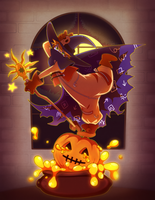 A Pumpkin Spell! (With process video!) by Dali-Puff