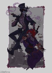 Baron Samedi and Maman Brigitte by IrenHorrors