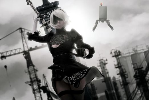 NieR: Automata - 2B cosplay by Disharmonica