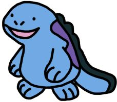 Quagsire Pokemon Emerald Sprite by GEORDINHO