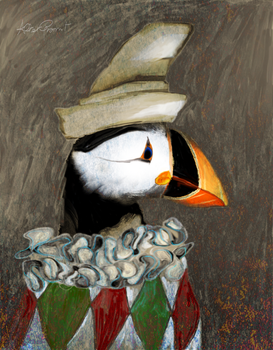 Puffin the Clown by altergromit