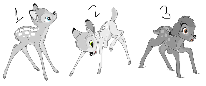 Abnegation Deer Adopts :.OPEN.: by GothicRockerGirl