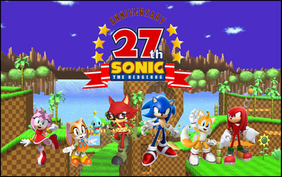Sonic 27th anniversary by Lazbro64