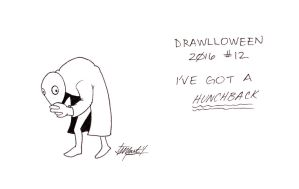 Drawlloween/Inktober #12 - I've Got a Hunchback by indigowarrior