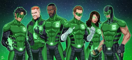 Green Lantern Corps (Earth-27) by phil-cho