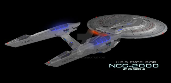 USS Excelsior (Kelvin Timeline) 3 by calamitySi