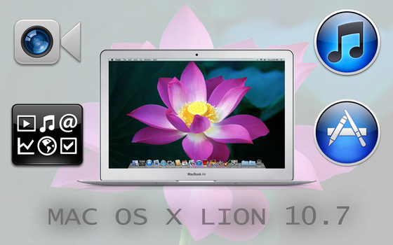 Mac OS X Lion 10.7 icons by 7555George