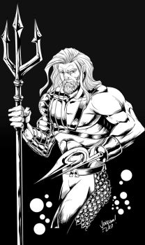 90s Aquaman Lineart by minsan
