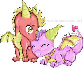 FlamexEmber Chibi Love by Jonas-Sloth